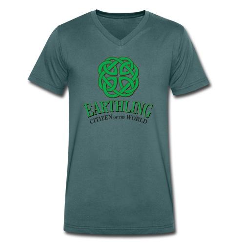 Earthling - Citizen of the World - Men's Organic V-Neck T-Shirt by Stanley & Stella