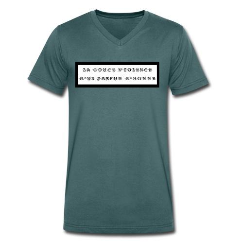 La douce violence d'un parfum d'homme - T-shirt bio col V Stanley & Stella Homme