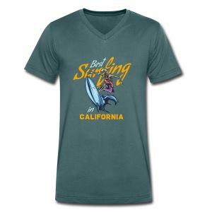 Surfing in California - Männer Bio-T-Shirt mit V-Ausschnitt von Stanley & Stella