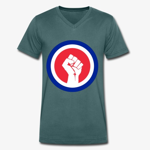 Premier logo de la LAE en grand - T-shirt bio col V Stanley & Stella Homme