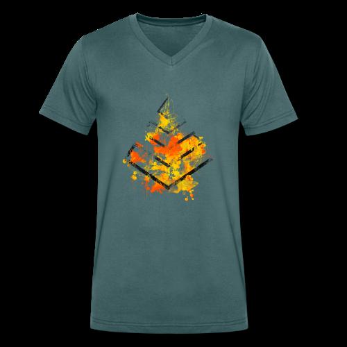 eX Graphic Logo 2 - Männer Bio-T-Shirt mit V-Ausschnitt von Stanley & Stella