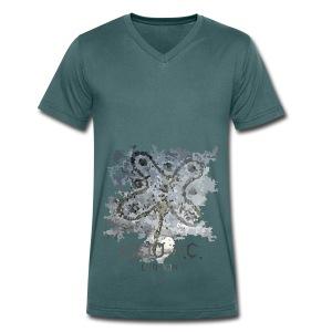 Rosa Camuna - T-shirt ecologica da uomo con scollo a V di Stanley & Stella