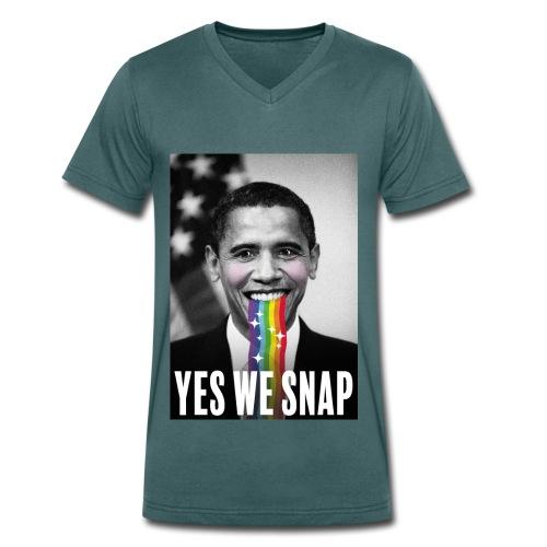 Obama snaps - T-shirt bio col V Stanley & Stella Homme