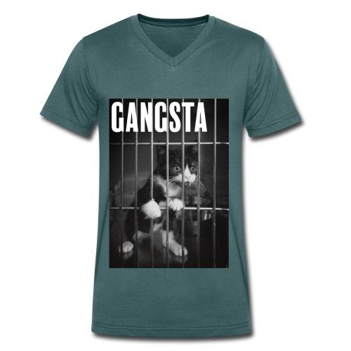 Gangsta cat - T-shirt bio col V Stanley & Stella Homme