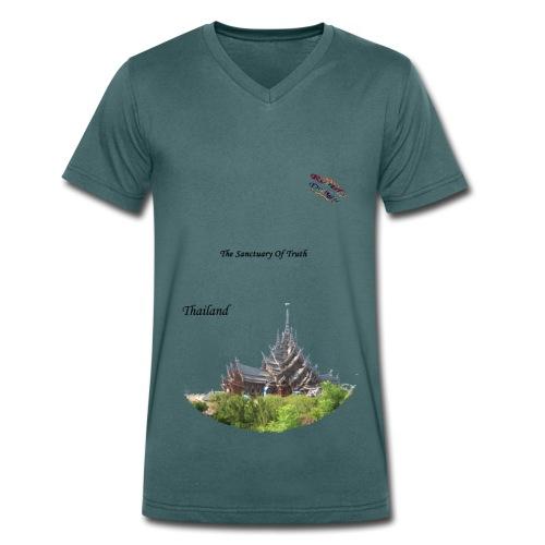Thailand Shirt Randy Design - Männer Bio-T-Shirt mit V-Ausschnitt von Stanley & Stella