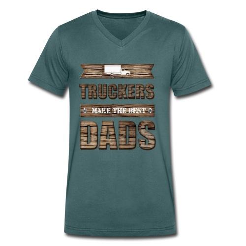 Truckers make the best Dads - Männer Bio-T-Shirt mit V-Ausschnitt von Stanley & Stella