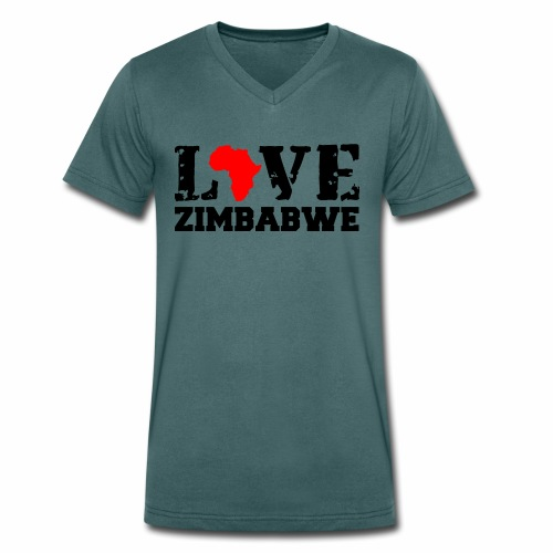 love zimbabwe - Men's Organic V-Neck T-Shirt by Stanley & Stella