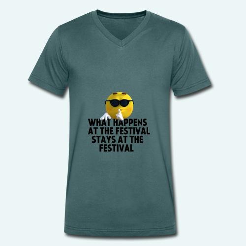 What happens at the festival guy - Mannen bio T-shirt met V-hals van Stanley & Stella