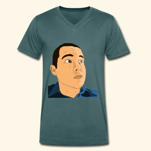 Gamer Barnes's Face - Men's Organic V-Neck T-Shirt by Stanley & Stella