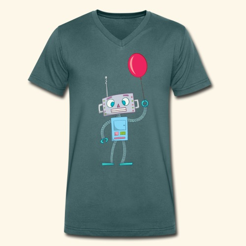 Cute Robot Kids Tees - Men's Organic V-Neck T-Shirt by Stanley & Stella