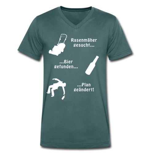 Rasenmäher gesucht... - Männer Bio-T-Shirt mit V-Ausschnitt von Stanley & Stella