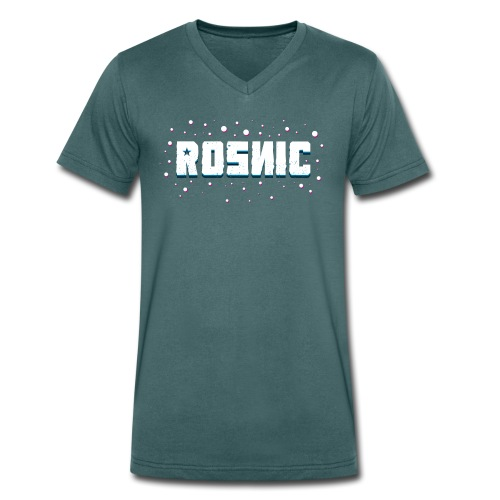 Rosnic Wit - Mannen bio T-shirt met V-hals van Stanley & Stella