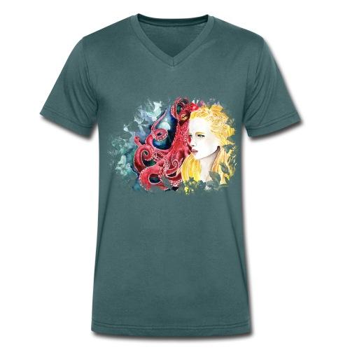 Sophrosyne - Männer Bio-T-Shirt mit V-Ausschnitt von Stanley & Stella