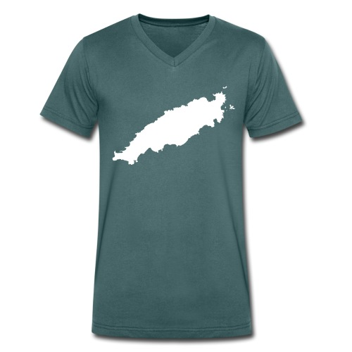 Tobago Silhouette - Men's Organic V-Neck T-Shirt by Stanley & Stella