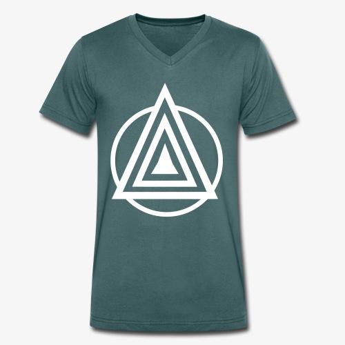 Zentara Circle NEON C - Männer Bio-T-Shirt mit V-Ausschnitt von Stanley & Stella