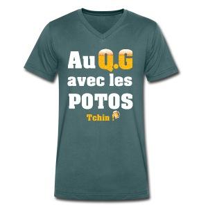 Tous au QG !!! - T-shirt bio col V Stanley & Stella Homme