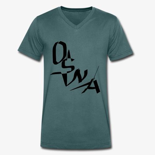 OSNA COMPANY - Ekologiczna koszulka męska z dekoltem w serek Stanley & Stella