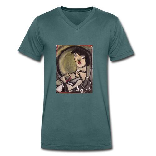 Isolamento sociale - T-shirt ecologica da uomo con scollo a V di Stanley & Stella