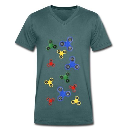 Fidget Spinner Tornado - T-shirt ecologica da uomo con scollo a V di Stanley & Stella
