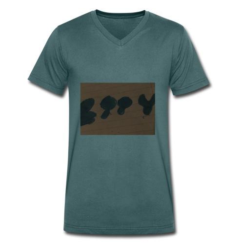 Etty Blue writing merch - Men's Organic V-Neck T-Shirt by Stanley & Stella