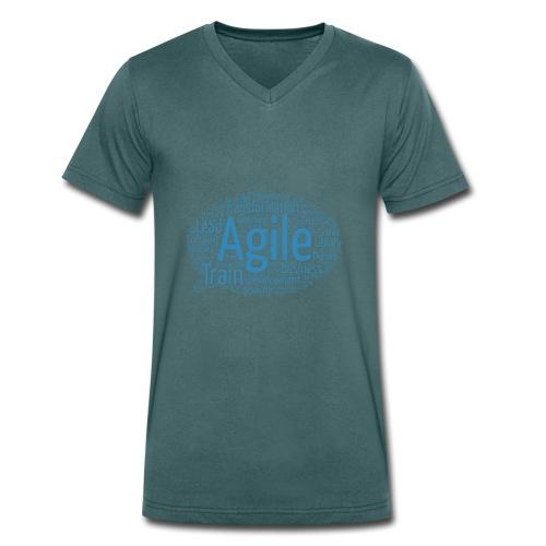 Die agile Buzzword-Sprechblase - Männer Bio-T-Shirt mit V-Ausschnitt von Stanley & Stella