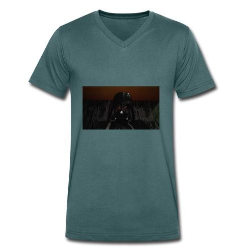 Nur mit maske - Männer Bio-T-Shirt mit V-Ausschnitt von Stanley & Stella