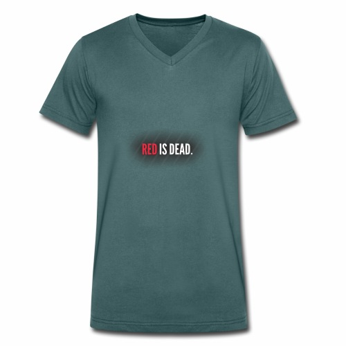 RED is DEAD - Mannen bio T-shirt met V-hals van Stanley & Stella