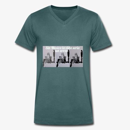 La vida sin musica - Camiseta ecológica hombre con cuello de pico de Stanley & Stella