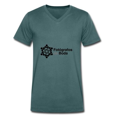 El logo clasico del colectivo FdB - Camiseta ecológica hombre con cuello de pico de Stanley & Stella