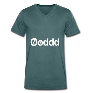 Øøddd (hvid skrift) - Økologisk Stanley & Stella T-shirt med V-udskæring til herrer
