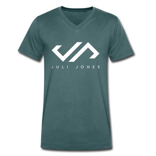 JuliJones white Logo - Männer Bio-T-Shirt mit V-Ausschnitt von Stanley & Stella