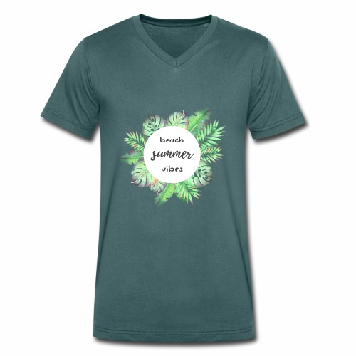 beach vibes - Männer Bio-T-Shirt mit V-Ausschnitt von Stanley & Stella