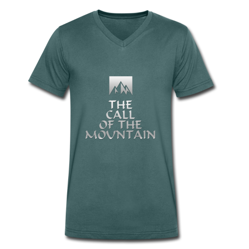 The Call Of The Mountain - silver - Men's Organic V-Neck T-Shirt by Stanley & Stella