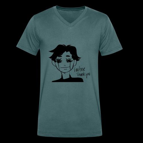 Feeling Vulnerable - Mannen bio T-shirt met V-hals van Stanley & Stella