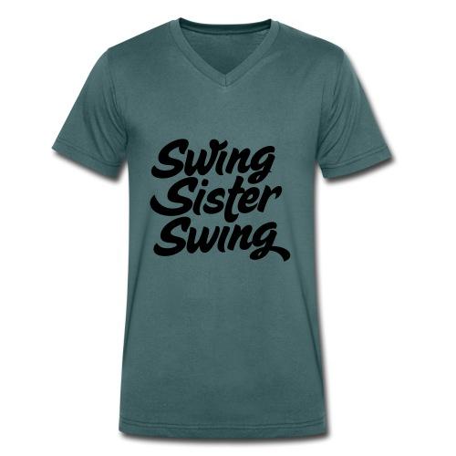 Swing Sister Swing - Mannen bio T-shirt met V-hals van Stanley & Stella