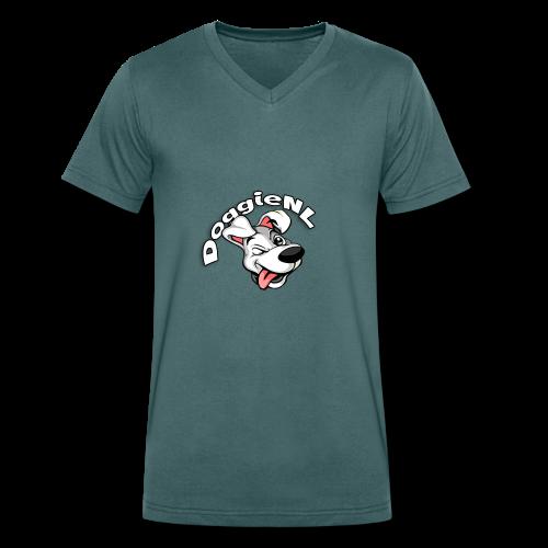 DoggieNL Logo - Mannen bio T-shirt met V-hals van Stanley & Stella