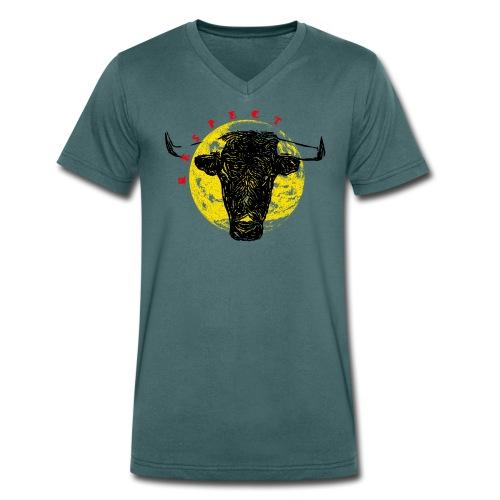Respect taureau - T-shirt bio col V Stanley & Stella Homme