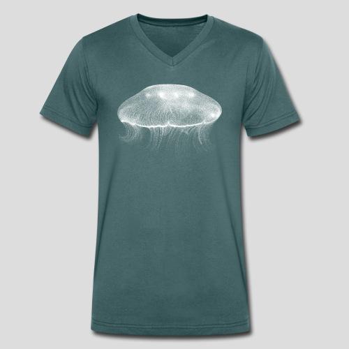 Qualle - Männer Bio-T-Shirt mit V-Ausschnitt von Stanley & Stella