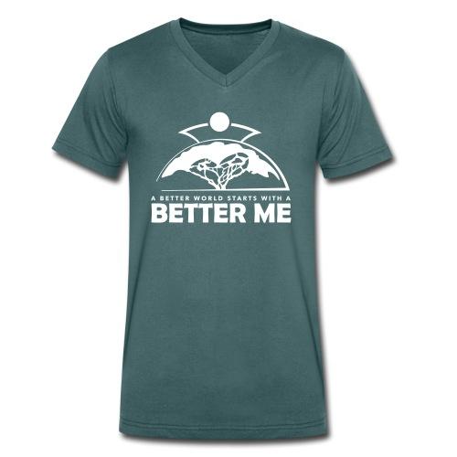 Better Me - White - Männer Bio-T-Shirt mit V-Ausschnitt von Stanley & Stella