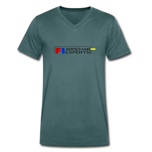 F1 Armchair Experts Logo BK - Men's Organic V-Neck T-Shirt by Stanley & Stella