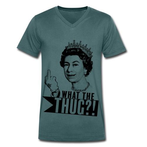 Elizabeth, queen of thug - T-shirt bio col V Stanley & Stella Homme