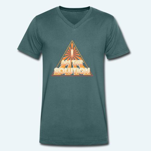 I AM THE SOLUTION - Männer Bio-T-Shirt mit V-Ausschnitt von Stanley & Stella