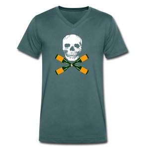Skull and Bucky Bottles 2 - Men's Organic V-Neck T-Shirt by Stanley & Stella