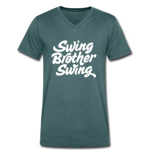 Swing Brother Swing - Mannen bio T-shirt met V-hals van Stanley & Stella