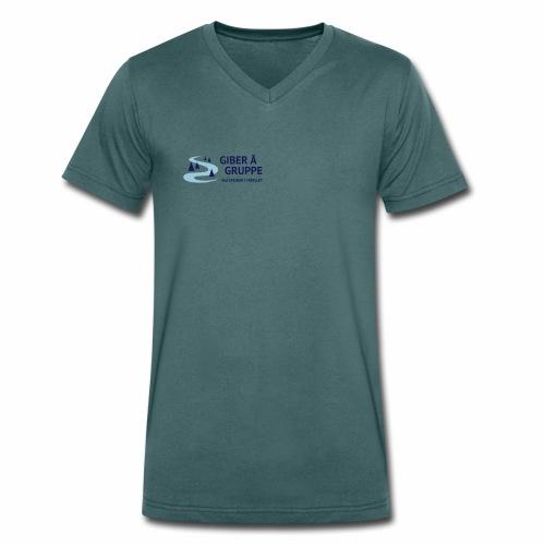 Lille logo forside - Økologisk Stanley & Stella T-shirt med V-udskæring til herrer