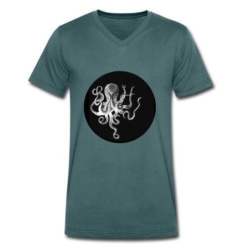 OCTOPUS black - T-shirt ecologica da uomo con scollo a V di Stanley & Stella