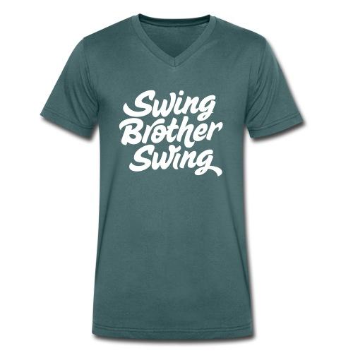 Swing Brother Swing - Mannen bio T-shirt met V-hals van Stanley & Stella