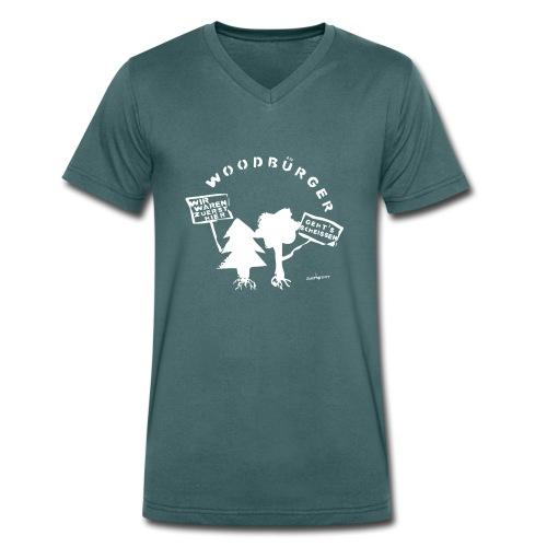 Woodbürger - Männer Bio-T-Shirt mit V-Ausschnitt von Stanley & Stella