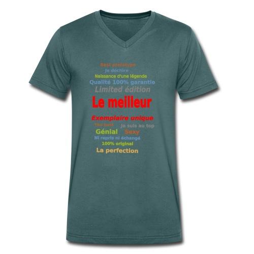 t shirt le meilleur sweat shirt coque et mugs - T-shirt bio col V Stanley & Stella Homme