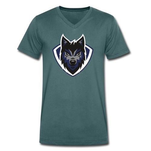 lobo2 - Camiseta ecológica hombre con cuello de pico de Stanley & Stella